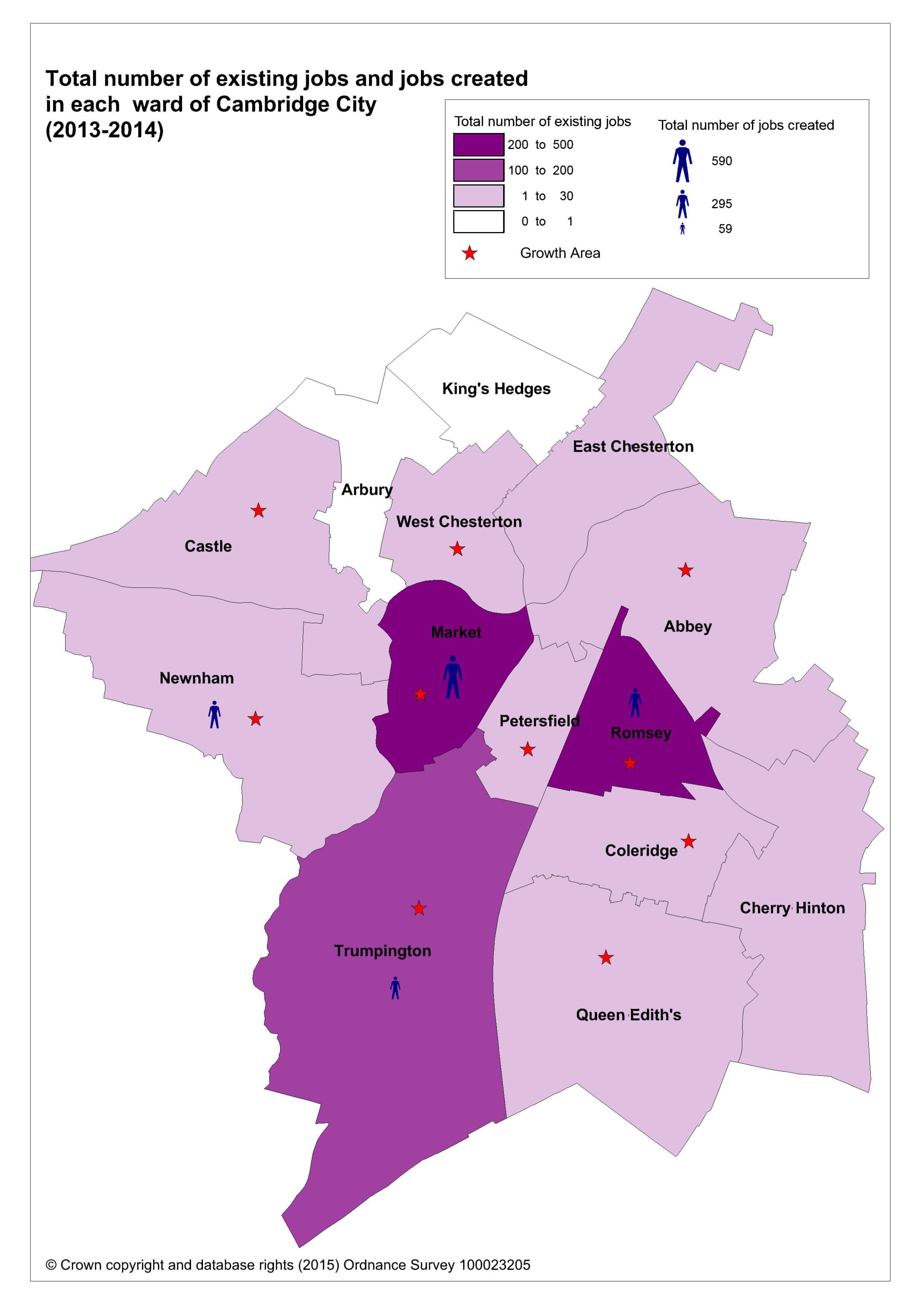 Employment Gains Map 2