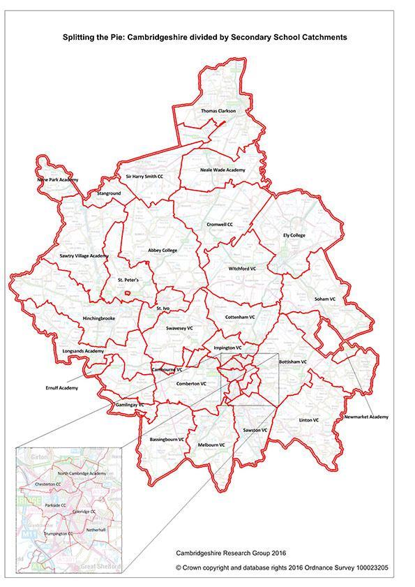 Map of cambridgeshire sectors