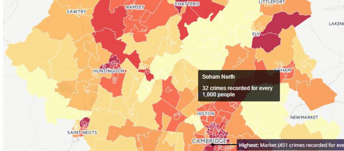 Neotist crimemap of cambridgeshire