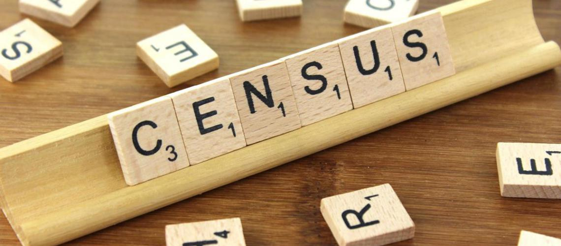 Census spelt out in scrabble tiles